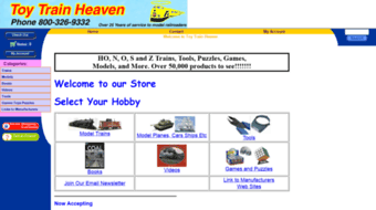 Everything on toytrainheaven com  Toy Model Trains HO Scale